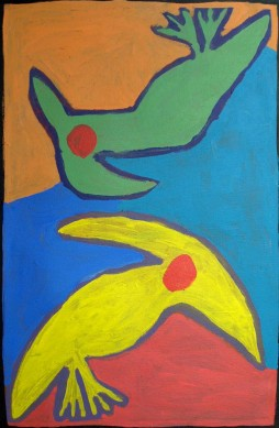 One Green Bird and One Yellow Bird by Peggy Jones