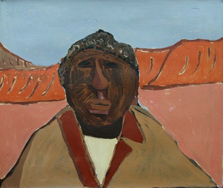 Portrait of my Grandfather Albert Namatjira by Vincent Namatjira