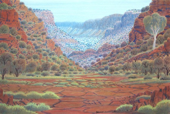 Mt Giles Country by Douglas Kwarlpe