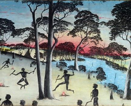 5 Carrolup School - Reynold Hart, A Native Corroboree, 1949