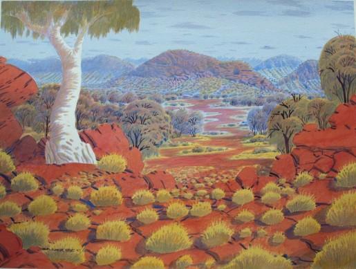 West MacDonnell Ranges by Douglas Kwarlpe