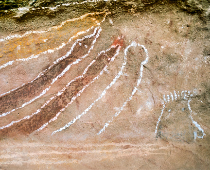 Aboriginal Rock Art Located West of Kununurra