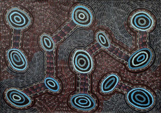 Bush Tomato Dreaming by Debbie Napaljarri Brown