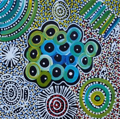 Bushtucker Country by Janet Golder Kngwarreye