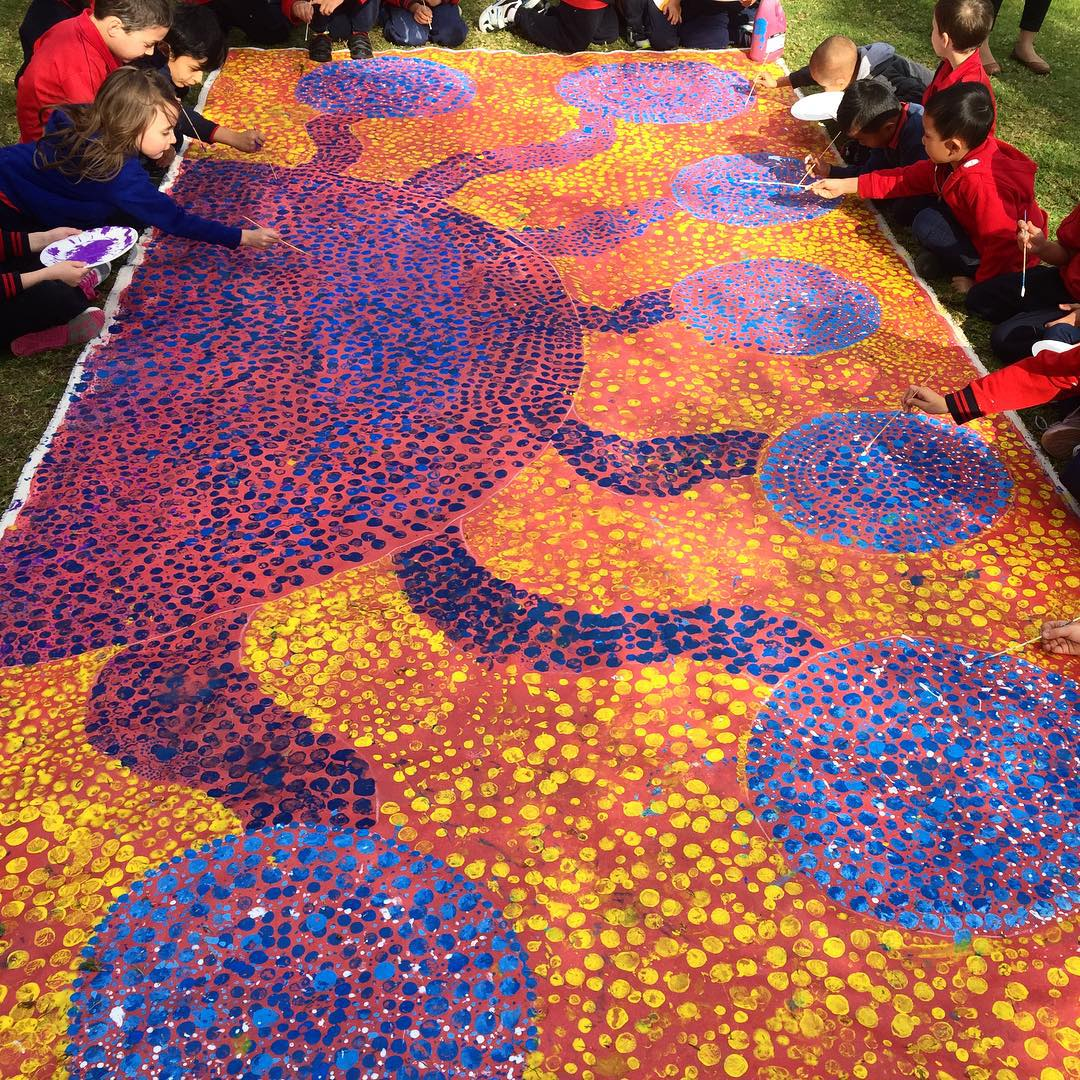Jade dolmans passion for aboriginal art education japingka mural west primary school west beechboro solutioingenieria Choice Image