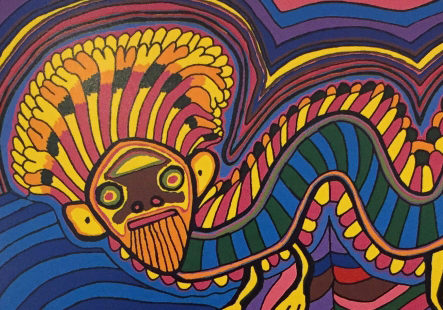 Jimmy-Pike-Rainbow-Serpent-Animal-Art